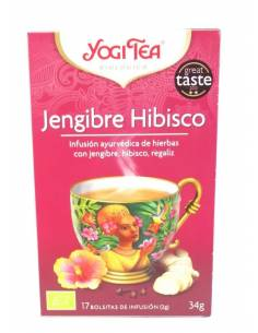 YOGI TEA JENGIBRE HIBISCO