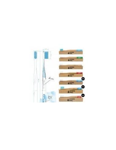 """Cepillo de Dientes  Medium Bambú Nylon Azul Ecológico de """"Hydro Phil"""""""