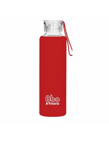 Botella reutilizable Bbo Irisana 550 ml. con funda de silicona