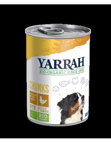 Comida Orgánica con pollo para perros Yarrah 405g