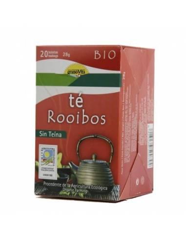 """Té de Rooibos sin Cafeína Ecológico de """"GranoVita"""" (20 bolsas/30 gr)"""