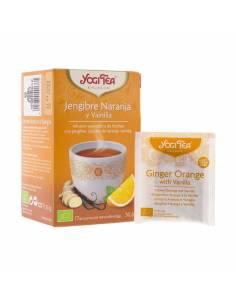 """Infusión de Jengibre, Naranja y Vainilla Ecológico de """"Yogi Tea"""" (17 bolsas / 30.6 gr)"""