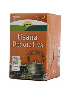 "Tisana Depurativa Sin Teina Ecológica de ""GranoVita"" (20 bolsas/30 gr)"