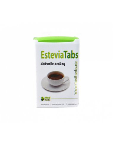 "EsteviaTabs Edulcorante ecológico de ""Med Herbs"" (300 pastillas de 60 mg)"