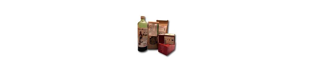 Preparados medicinales naturales y complementos alimenticios de producción ecológica